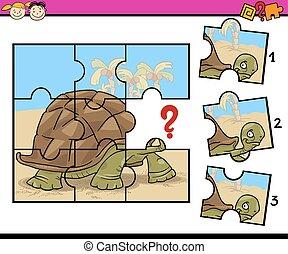 puzzle, puzzle, jeu, dessin animé