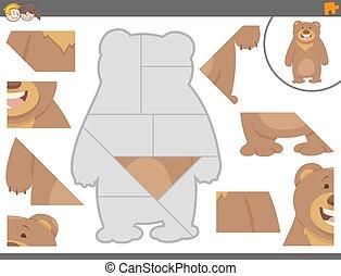 puzzle, puzzle, jeu, ours
