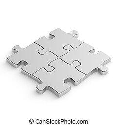 puzzle, puzzle, métal
