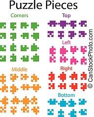 puzzle, puzzle, parties, illustration, vide