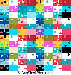 puzzle, puzzle, -, seamless, illustration, vecteur