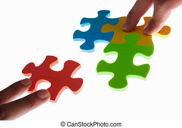 puzzle, résoudre, coloré