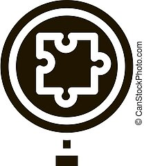Puzzle Research Icon Vector Glyph Illustration