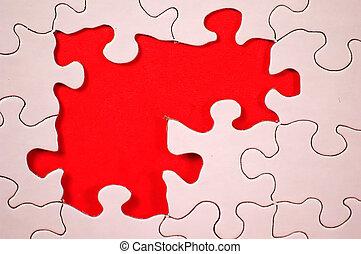 puzzle, -, rouges