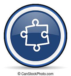 puzzle round glossy icon, modern design web element
