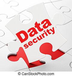 puzzle, sécurité, fond, sécurité, données, concept: