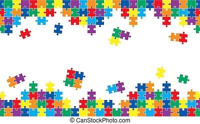 puzzle, seamless, fond
