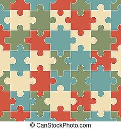 puzzle, seamless, fond, morceaux
