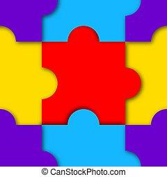 puzzle, seamless, modèle, vecteur, illustration.