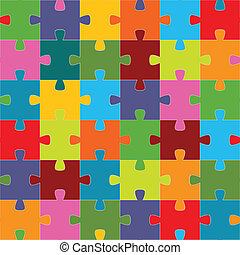 puzzle, seamless, struttura