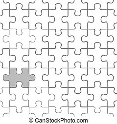 Puzzle seamless - The white puzzle seamless