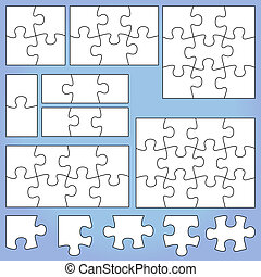 12 piece puzzle template 12 piece blank puzzle forms vector
