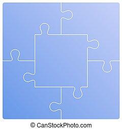Puzzle set. Vector illustration