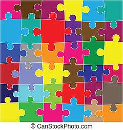 puzzle, sfondo rosso