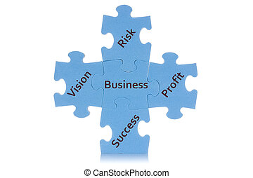 Puzzle showing business content