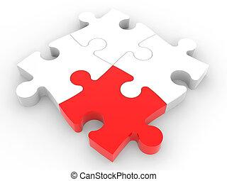 Puzzle solution concept.