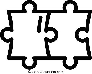 Puzzle solution icon, outline style
