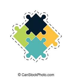 puzzle solution image concept