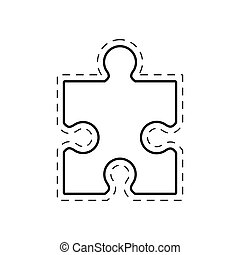 puzzle solution image outline