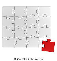 Puzzle solution - Jigsaw puzzle concept.