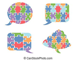puzzle speech bubbles