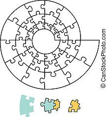 puzzle, spirale
