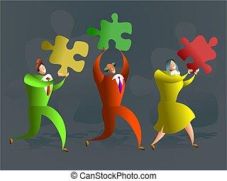 puzzle, squadra