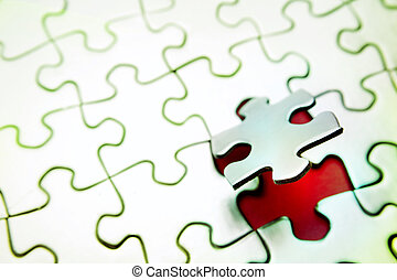 Puzzle  - Last piece of jigsaw puzzle
