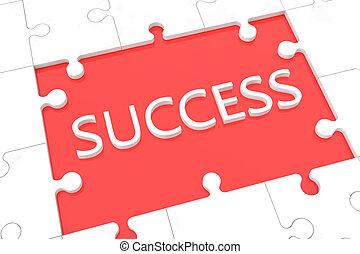 Puzzle success concept