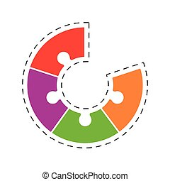 puzzle team work concept image