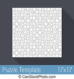 Puzzle Template 17x17 - Square jigsaw puzzle template 17x17...