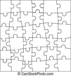 puzzle, template.