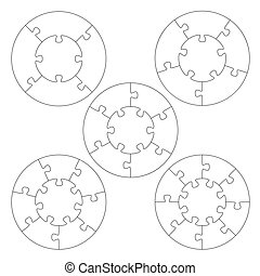 Puzzle templates circle