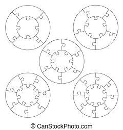 Puzzle templates circle