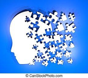 puzzle, testa