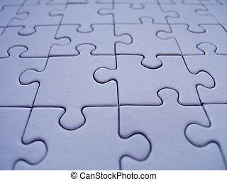 Puzzle texture - Blue puzzle close-up