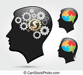 Puzzle - thinking heads