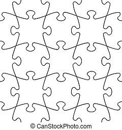 puzzle, transparent, seamless