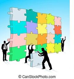 puzzle, tridimensionale