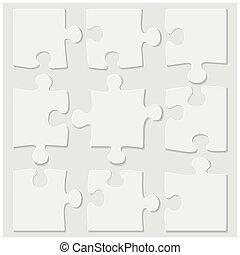 puzzle, tuiles, vide