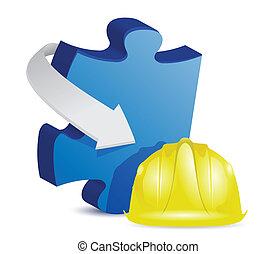 puzzle under construction
