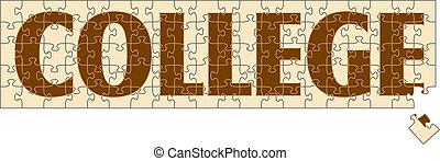 puzzle, università