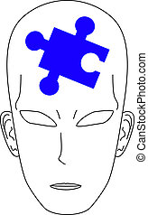 puzzle, uomo