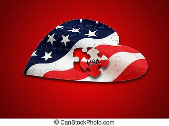 Puzzle US Flag