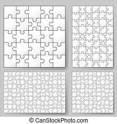 Puzzle  - Various sizes puzzle. Illustration for design