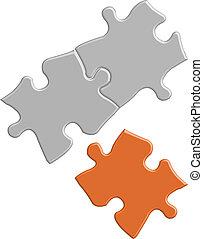 puzzle, vecteur, brillant, coloré