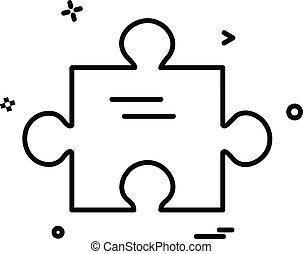 puzzle, vecteur, conception, icône