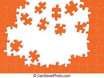 puzzle, vecteur, fond