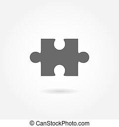 puzzle, vecteur, icône