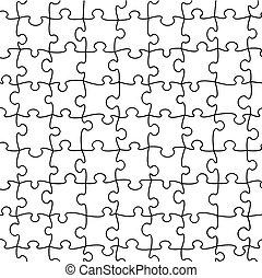 puzzle, vecteur, seamless